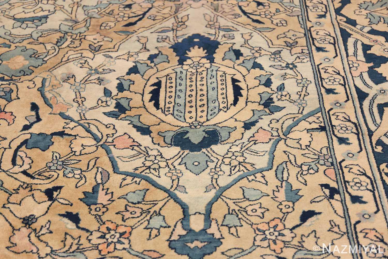 Antique Persian Kerman Carpet 50099 White Balloon Nazmiyal