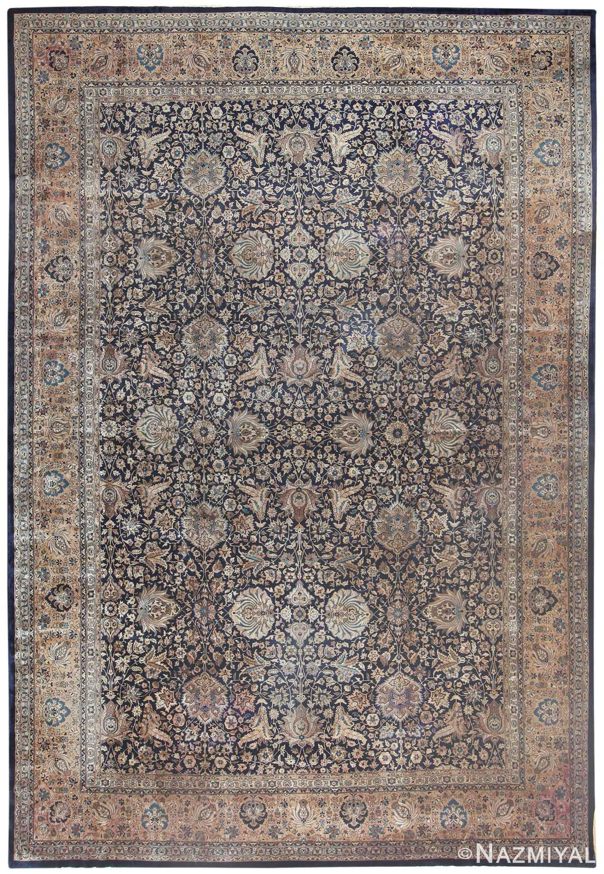 Blue Antique Persian Kerman Rug 50077 by nazmiyal
