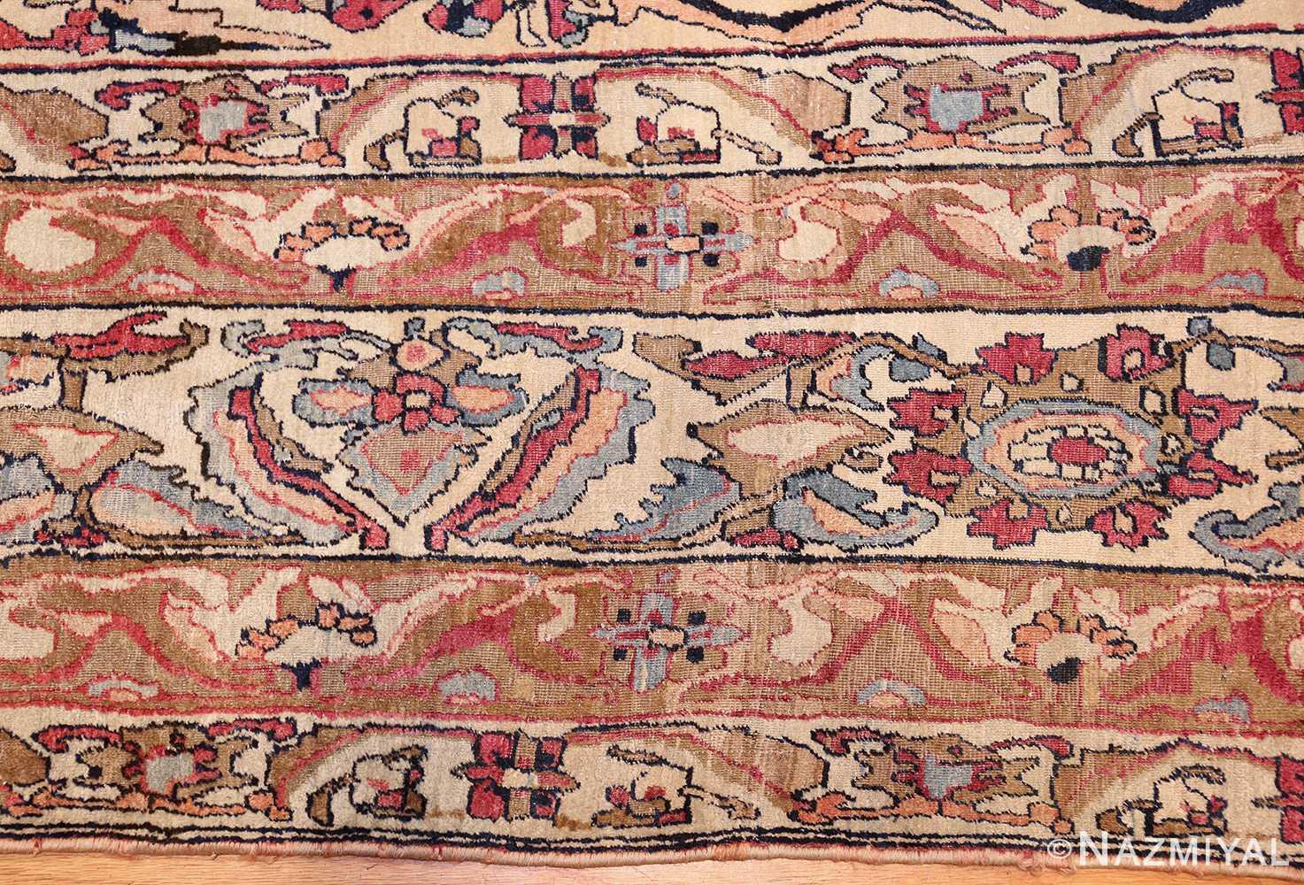 antique persian kerman rug 50106 border Nazmiyal