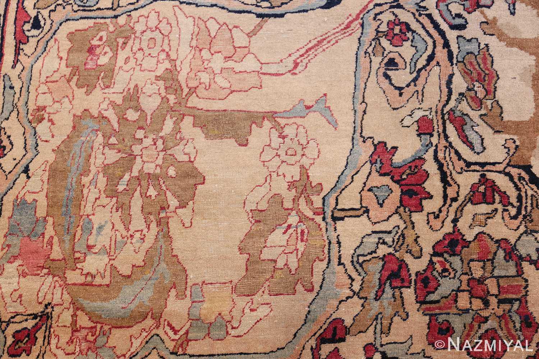 antique persian kerman rug 50106 field Nazmiyal