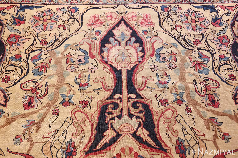 antique persian kerman rug 50106 top Nazmiyal