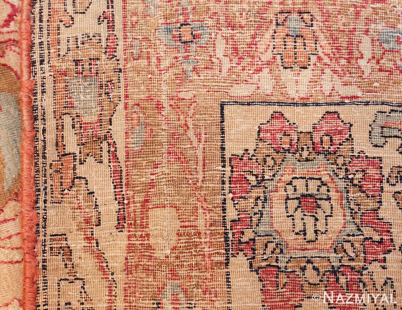 antique persian kerman rug 50106 weave Nazmiyal