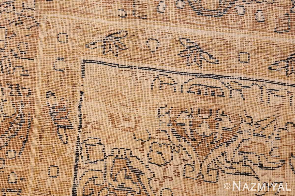 antique persian kerman rug 50147 weave Nazmiyal