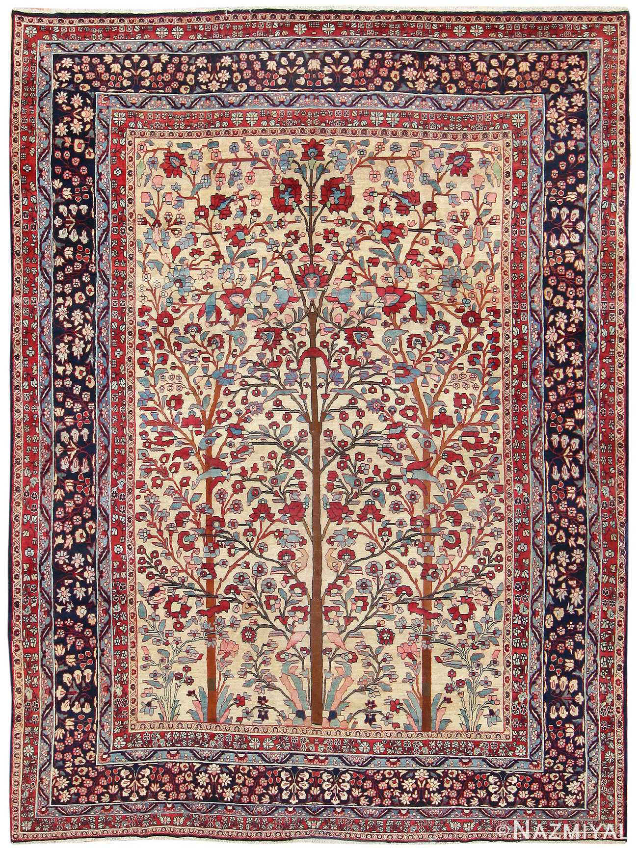 Antique Persian Khorassan Rug With Tree Of Life Design