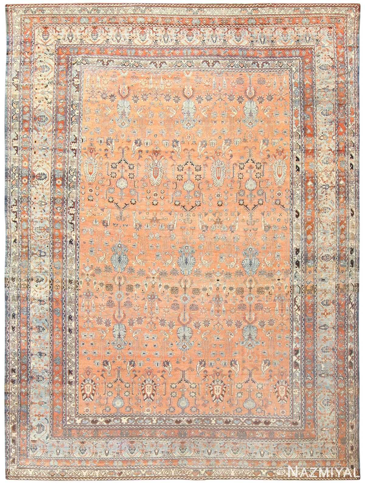 Tribal Room Size Antique Persian Malayer Rug 47506 by nazmiyal