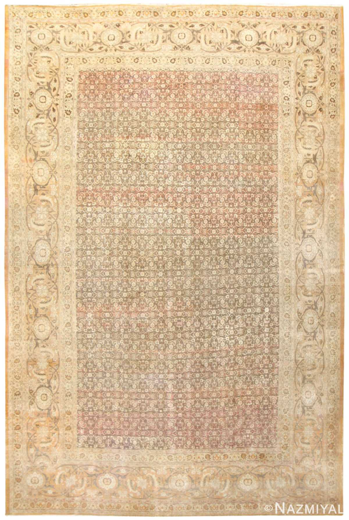 Large Antique Persian Tabriz Rug 50058 by nazmiyal