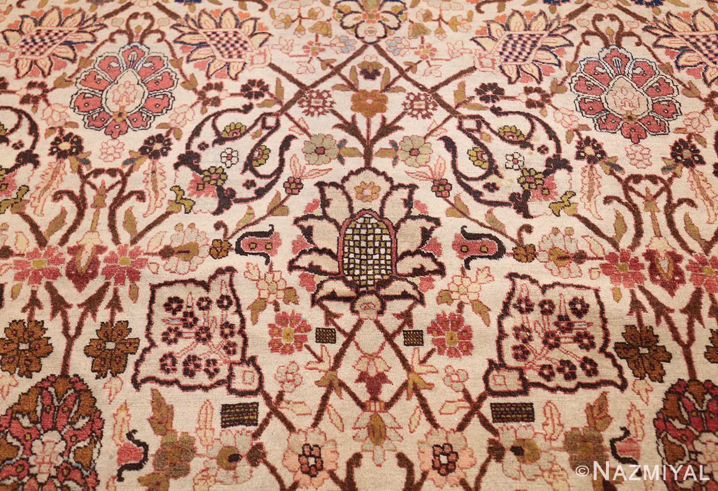 antique persian tabriz rug 50093 center Nazmiyal