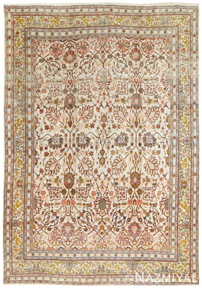Antique Persian Tabriz Rug 50093 Detail/Large View