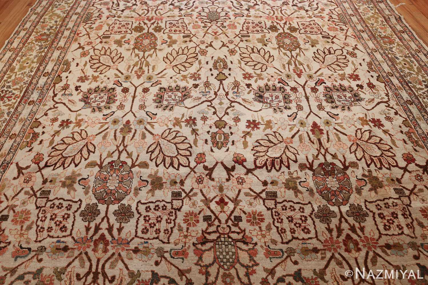 antique persian tabriz rug 50093 field Nazmiyal