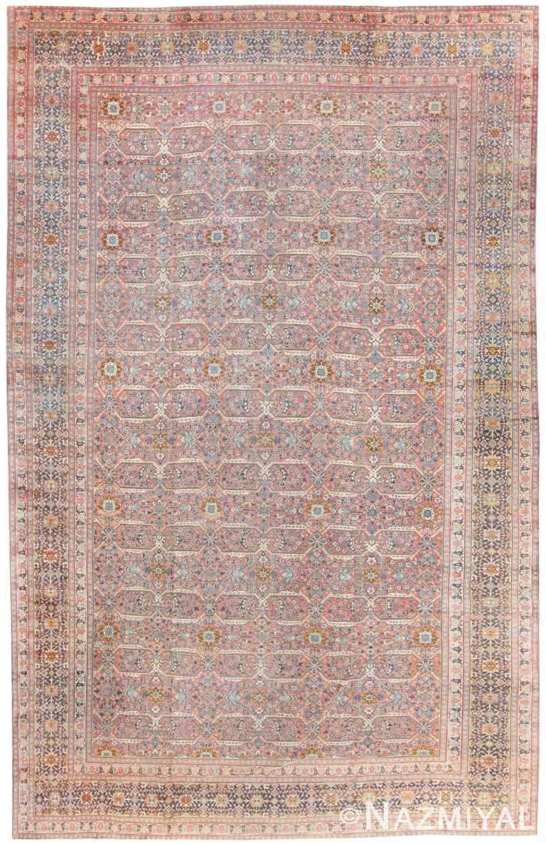 Fine Large Antique Persian Tabriz Rug 50107 by nazmiyal