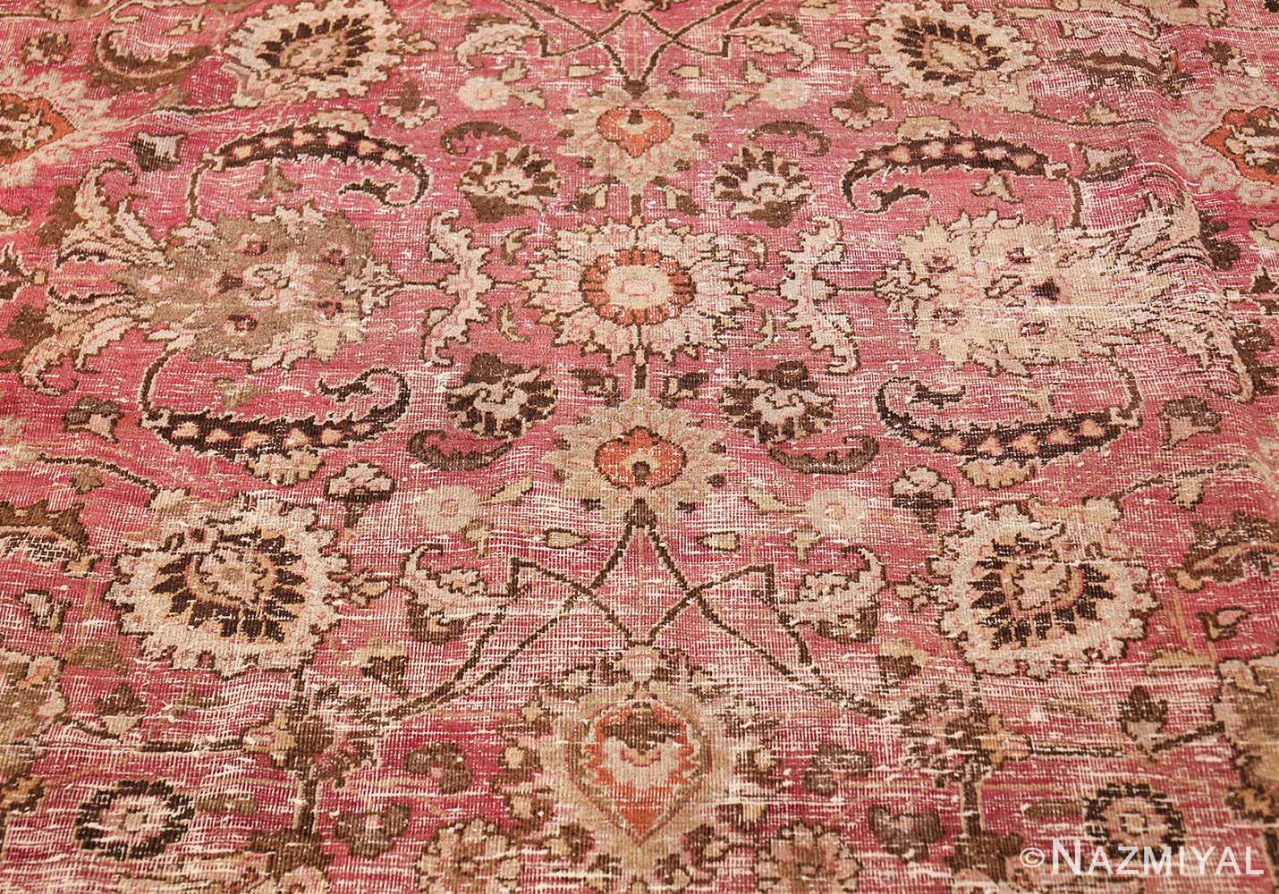 antique shabby chic persian khorassan carpet 48297 middle Nazmiyal
