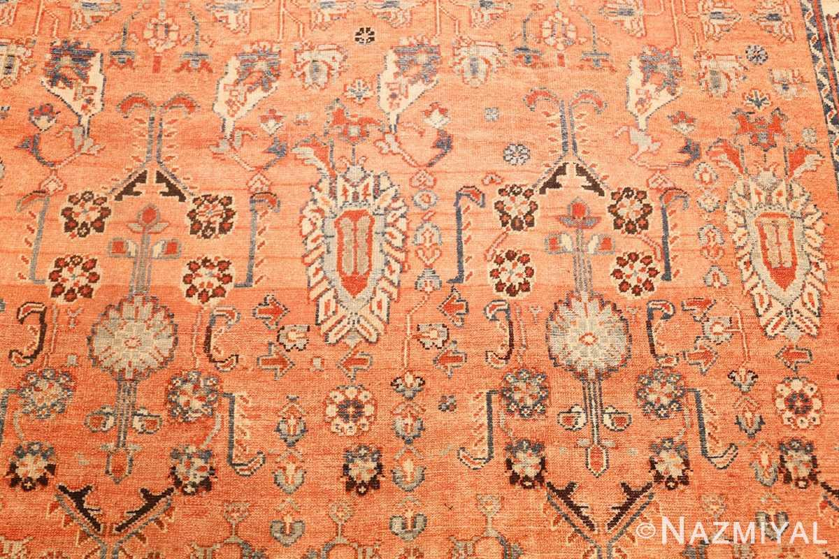 antique tribal persian malayer rug 47506 blue Nazmiyal