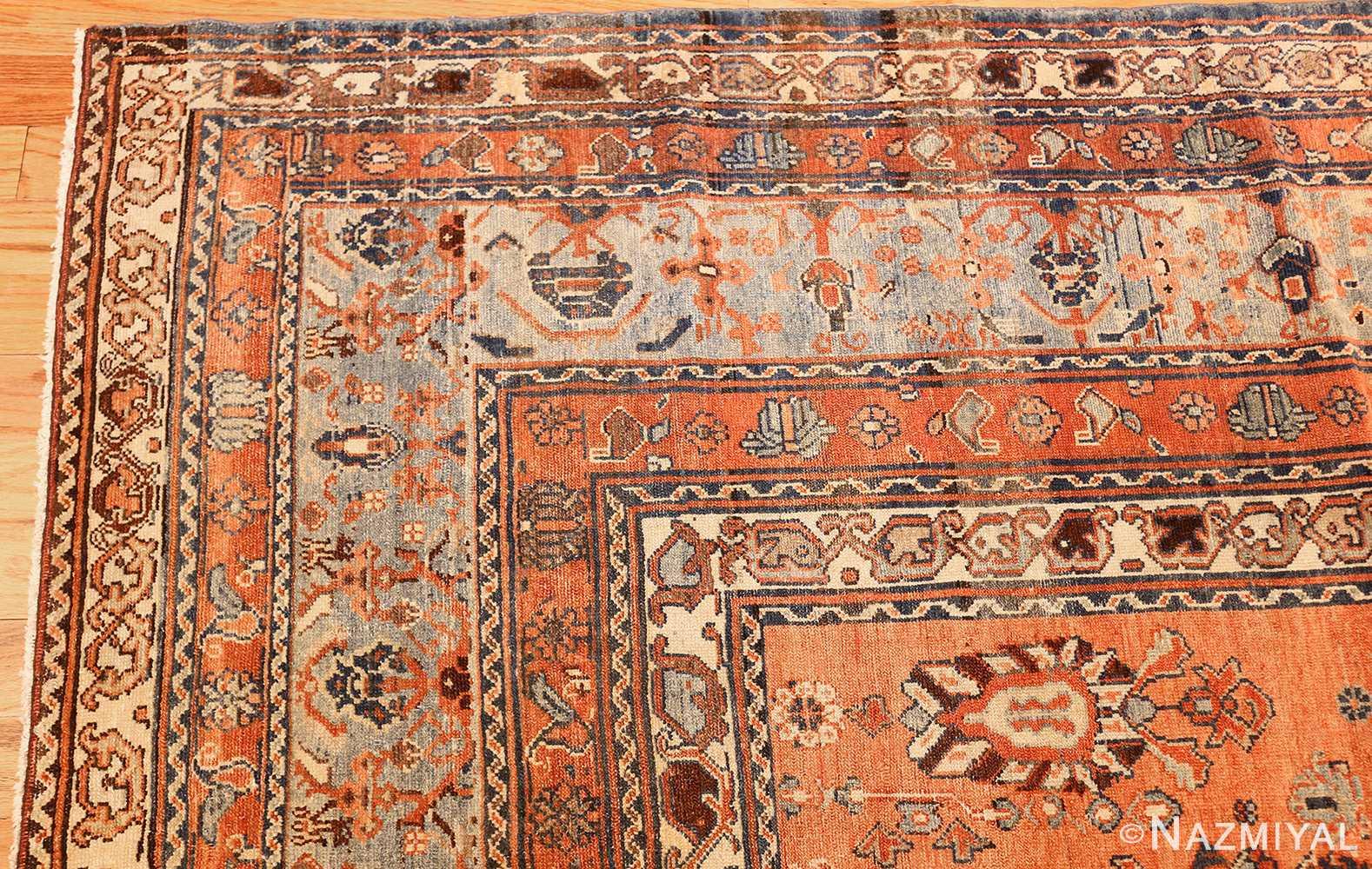 antique tribal persian malayer rug 47506 corner Nazmiyal