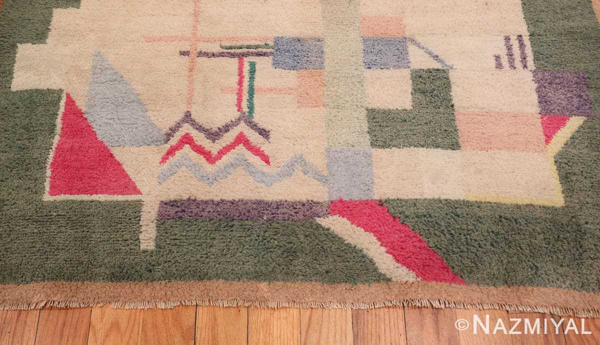 Border Cotton Indian Art deco rug 48426 by Nazmiyal