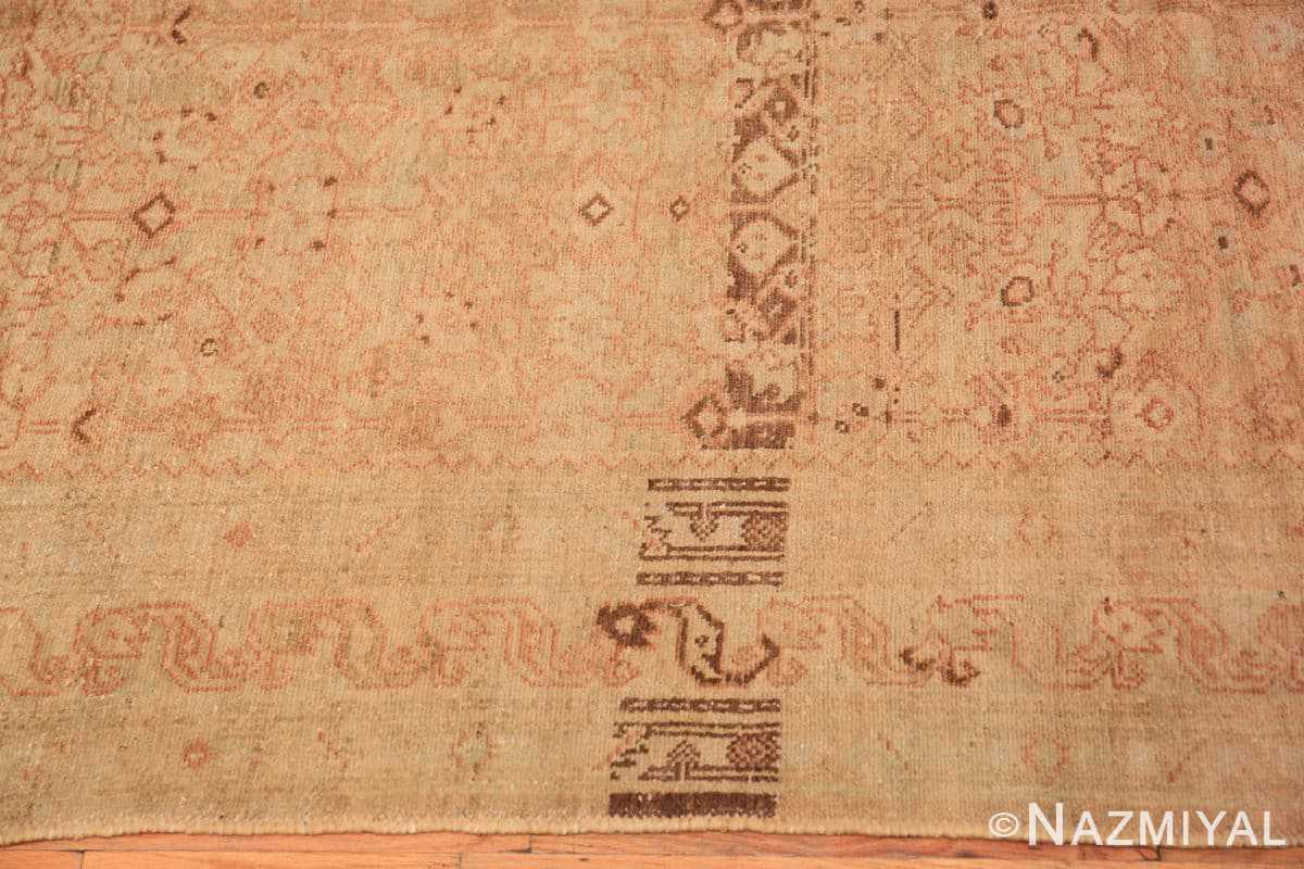 Border detail Antique Persian Malayer runner 48308 by Nazmiyal