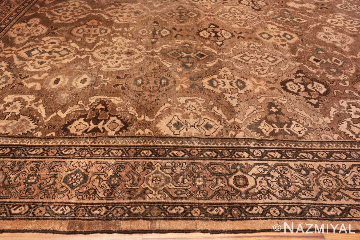 Border Oversize Antique Persian Sultanabad rug 50060 by Nazmiyal