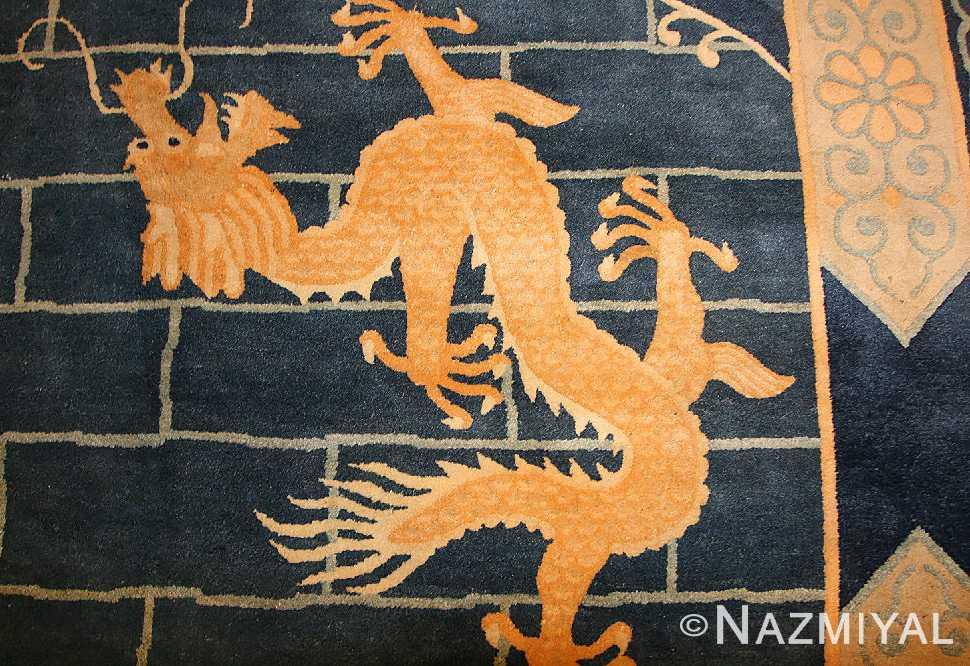 chinese art deco rug 50122 dragon Nazmiyal