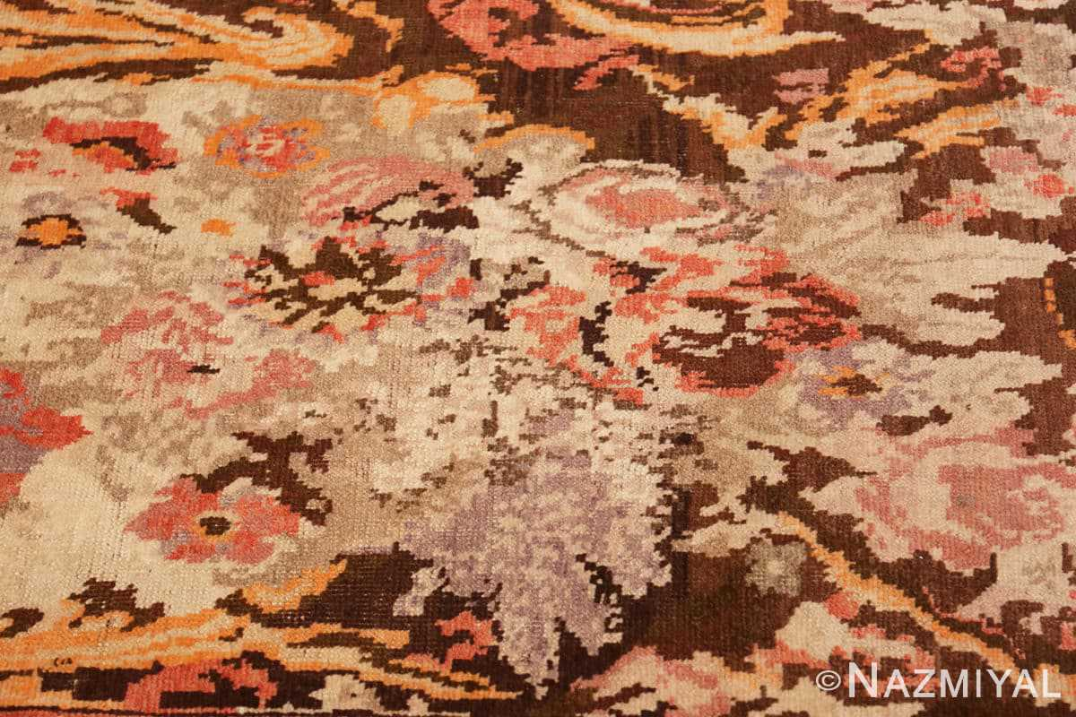 Close-up Antique Caucasian Karabagh runner rug 50141 by Nazmiyal