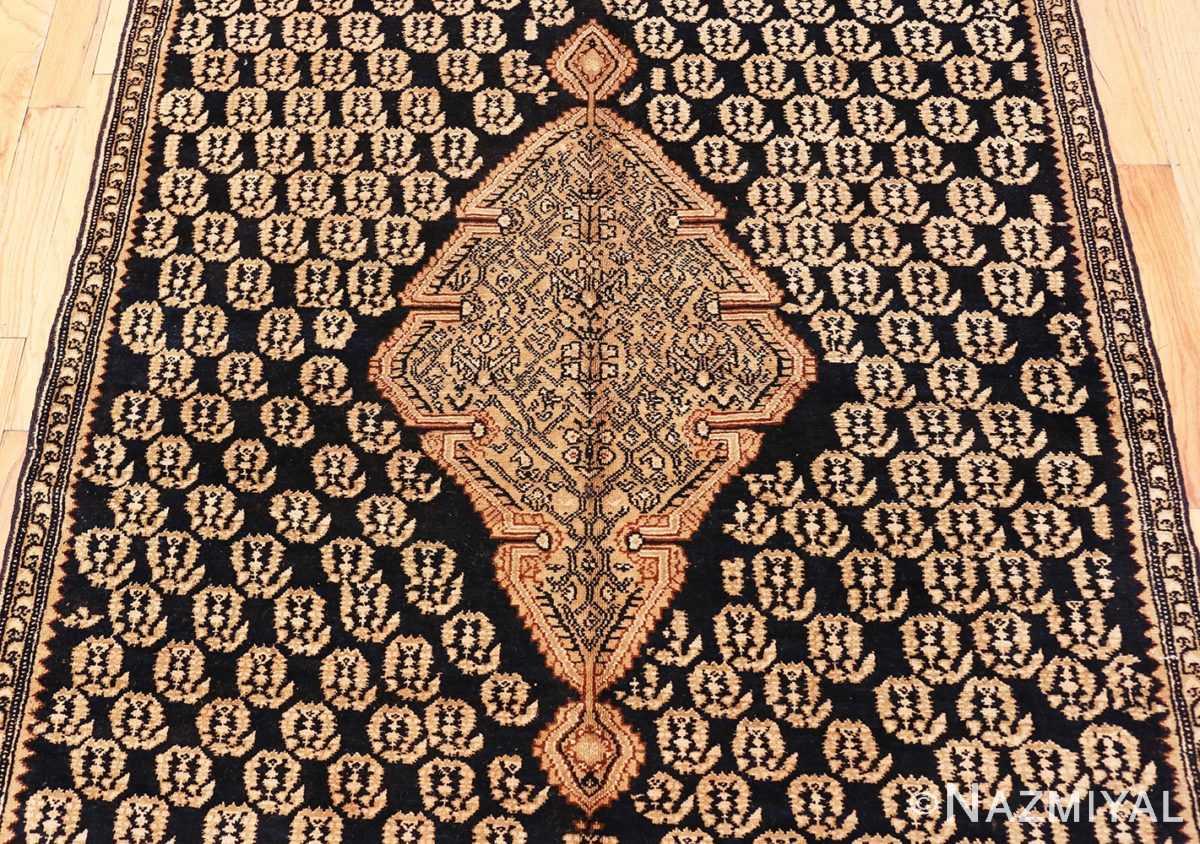 Close-up Antique Persian Malayer runner rug 50153 by Nazmiyal