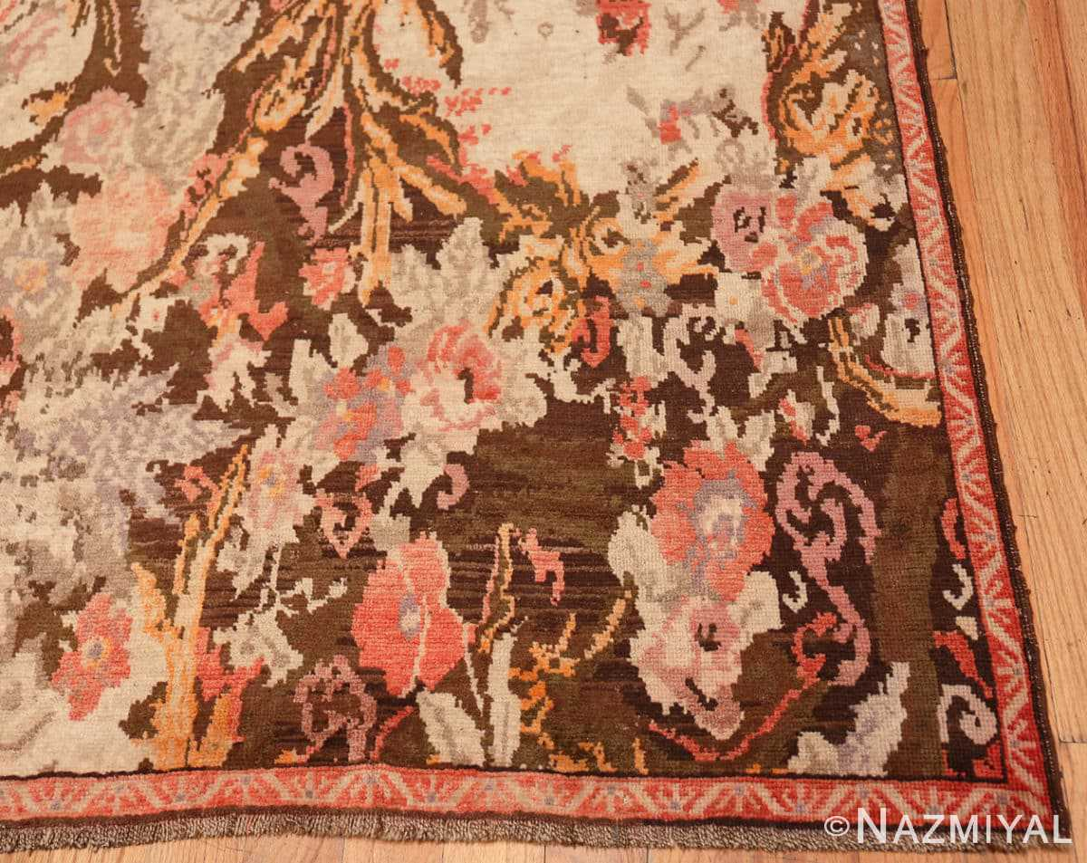 Corner Antique Caucasian Karabagh runner rug 50141 by Nazmiyal