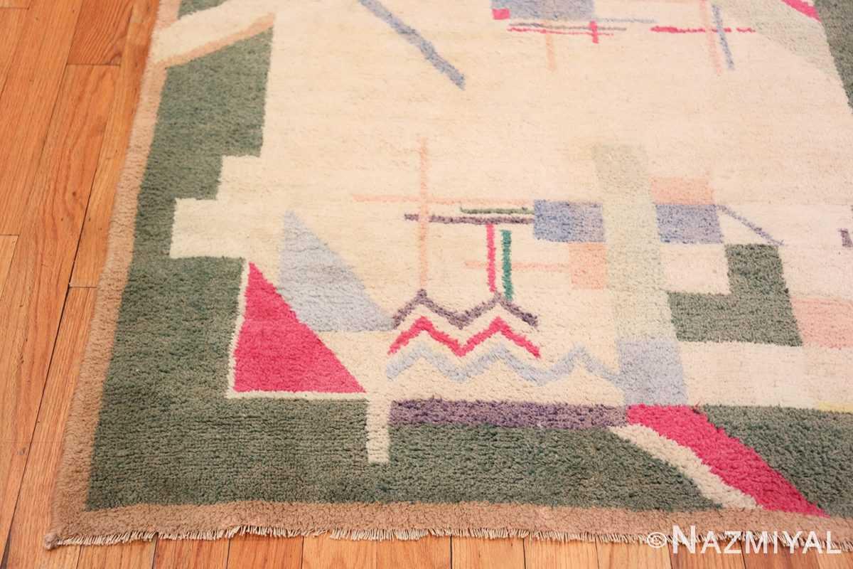 Corner Cotton Indian Art deco rug 48426 by Nazmiyal
