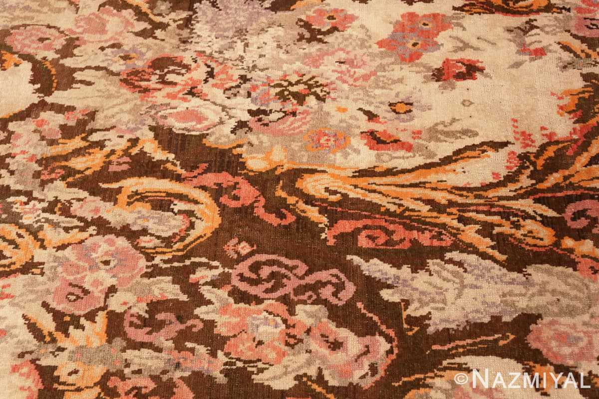 Detail Antique Caucasian Karabagh runner rug 50141 by Nazmiyal