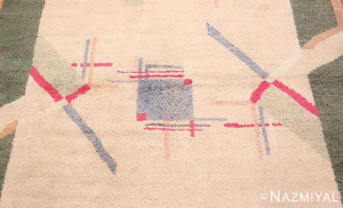Detail Cotton Indian Art deco rug 48426 by Nazmiyal