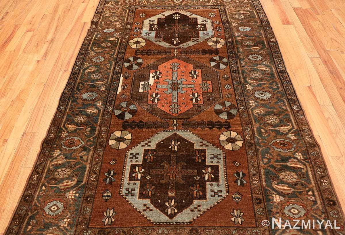 Field Small Antique Tribal Persian Heriz rug 48338 by Nazmiyal