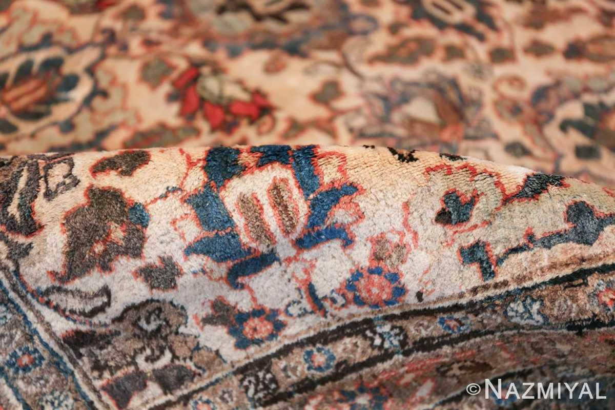 Fine Ivory Antique Persian Tabriz Rug 50155 Floral Pile Nazmiyal