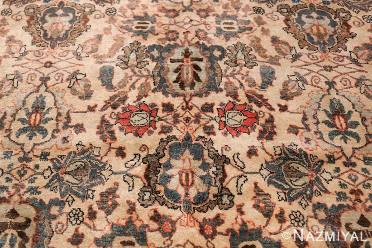 Fine Ivory Antique Persian Tabriz Rug 50155 Four Design Nazmiyal