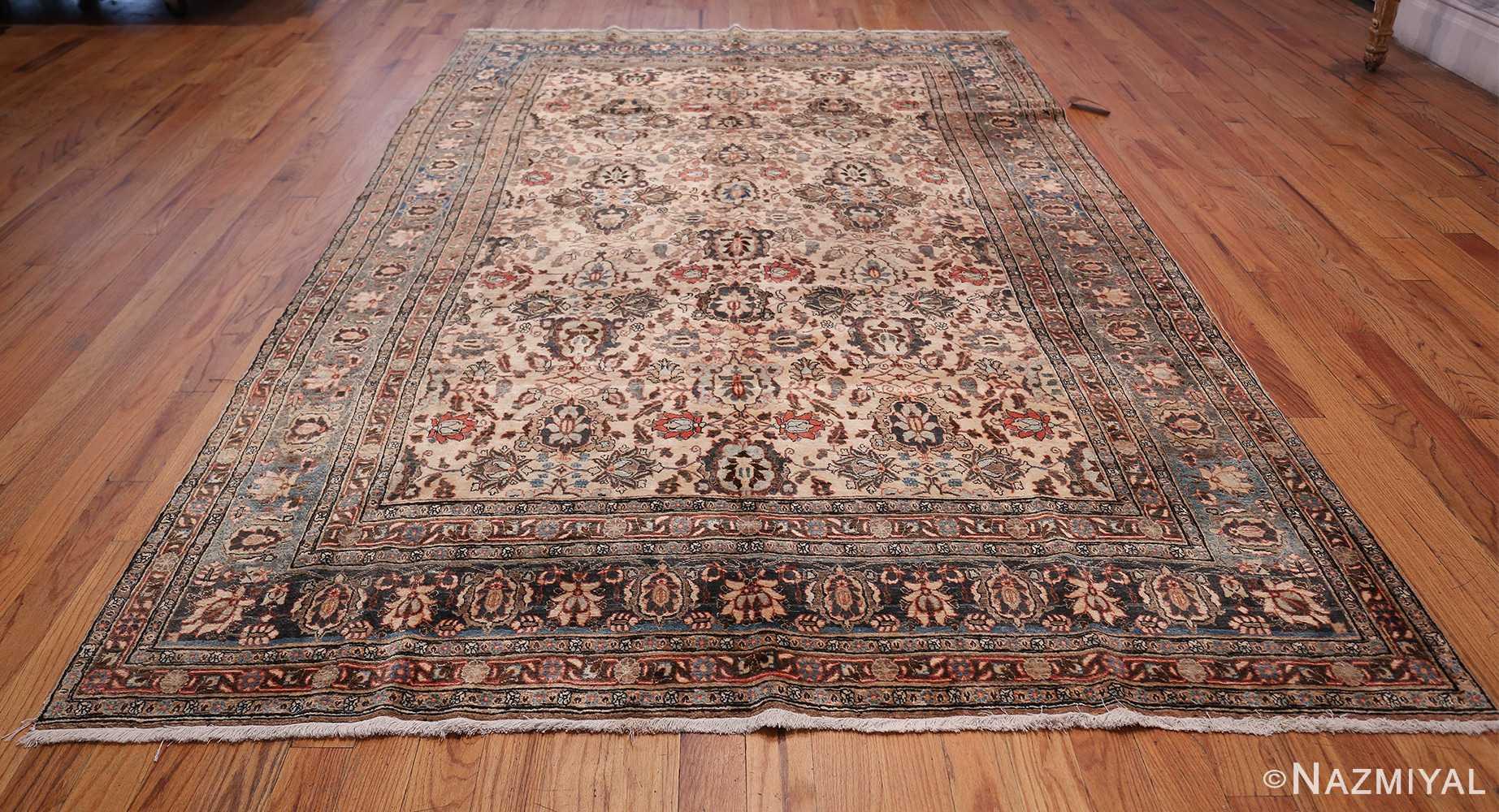 Fine Ivory Antique Persian Tabriz Rug 50155 Whole Design Nazmiyal
