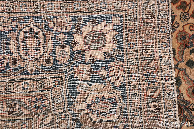 Fine Ivory Antique Persian Tabriz Rug 50155 Woven Knots Nazmiyal