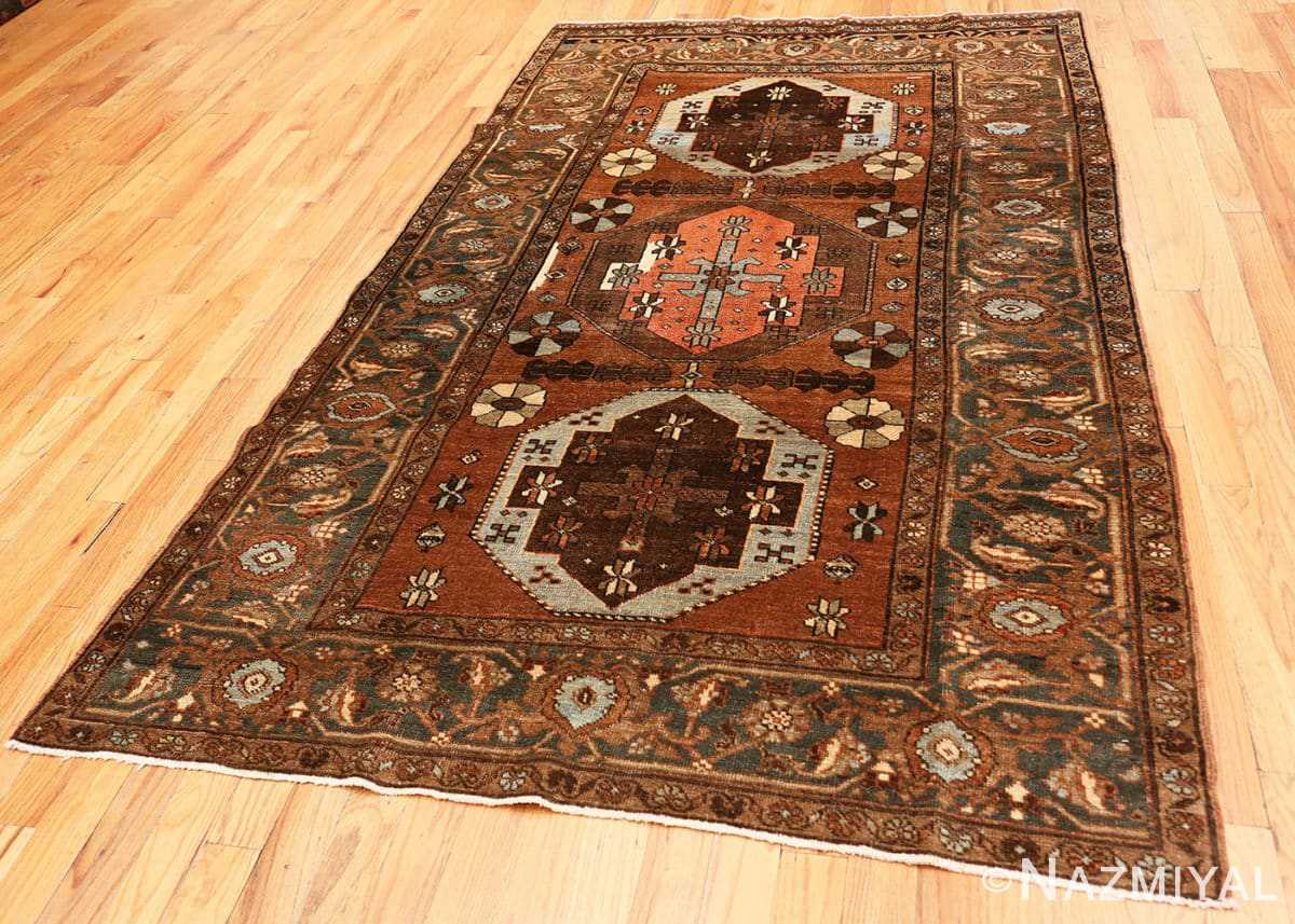 Full Antique Tribal Persian Heriz rug 48338 by Nazmiyal