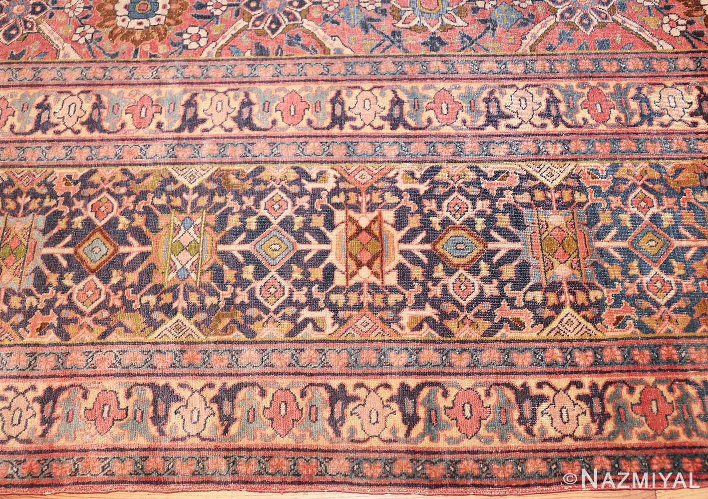 large antique persian tabriz rug 50107 border Nazmiyal