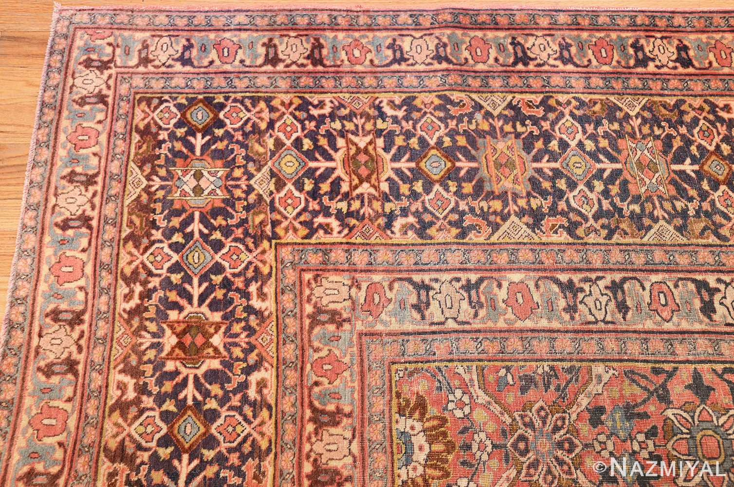 large antique persian tabriz rug 50107 corner Nazmiyal