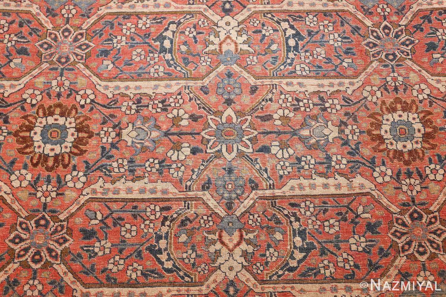 large antique persian tabriz rug 50107 design Nazmiyal