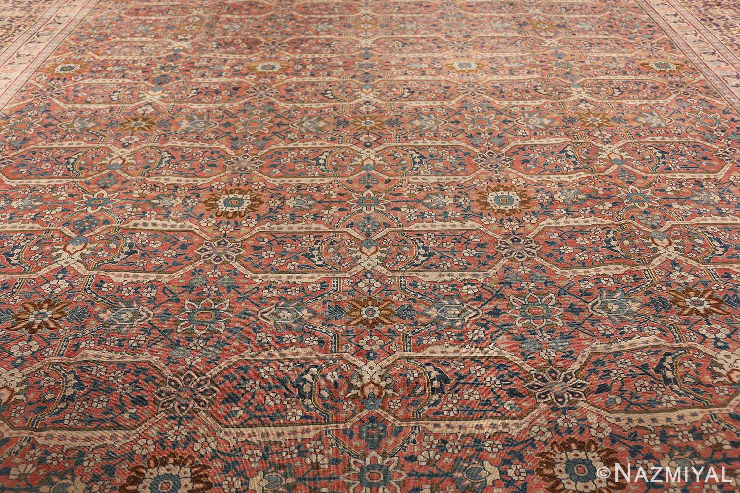 large antique persian tabriz rug 50107 field Nazmiyal