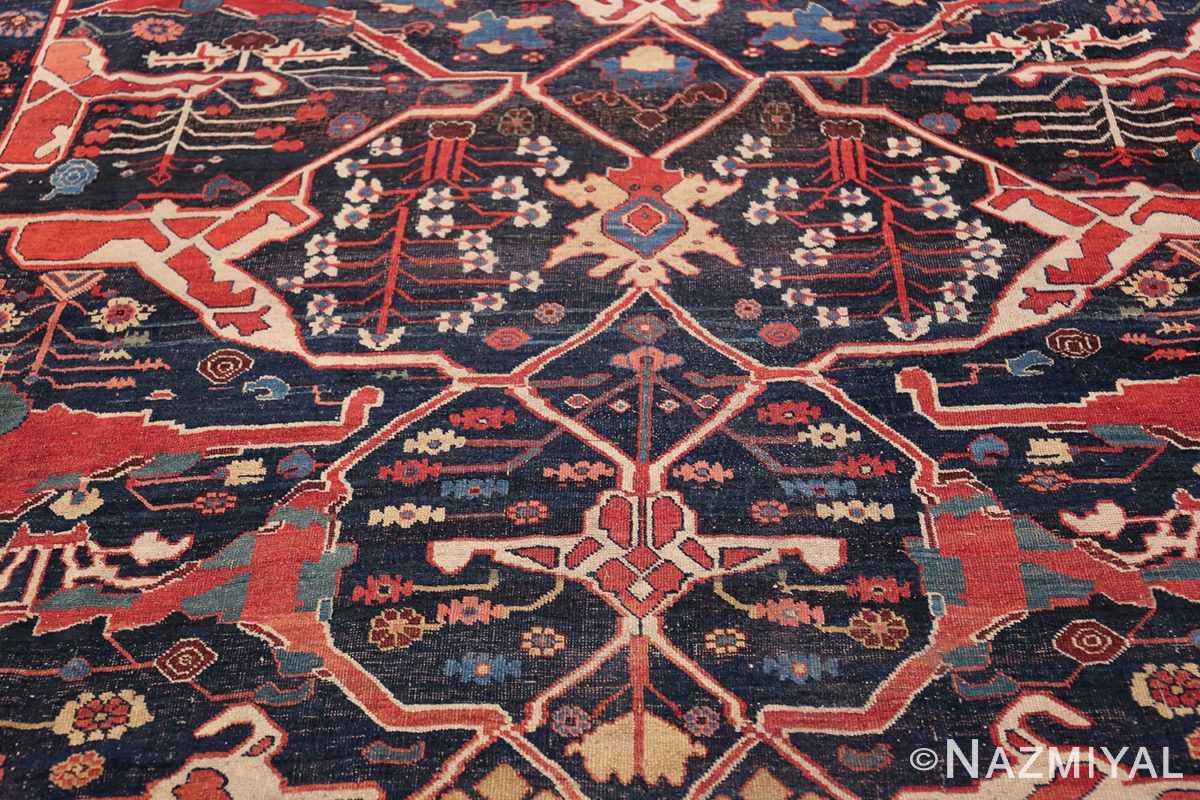Large Blue Garous Design Antique Persian Bidjar Rug 48307 Four Diamond Nazmiyal