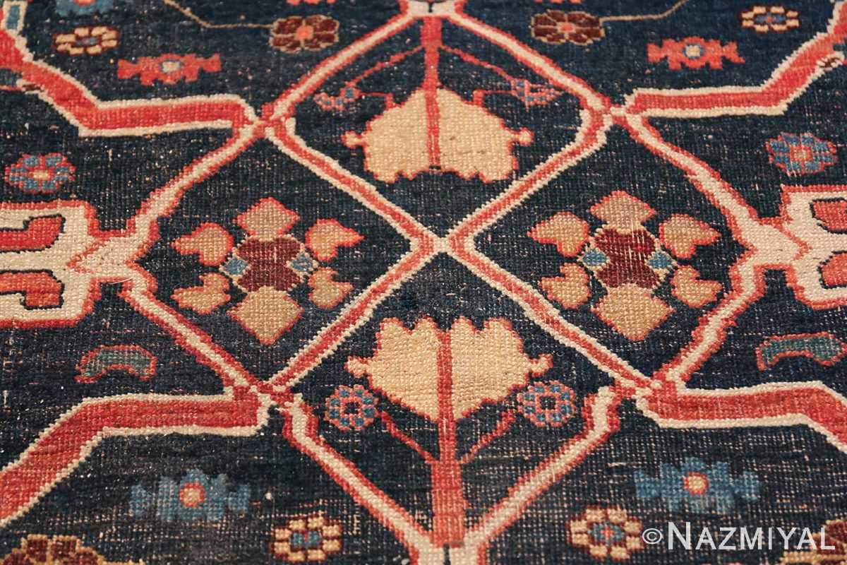 Large Blue Garous Design Antique Persian Bidjar Rug 48307 Middle Design Nazmiyal