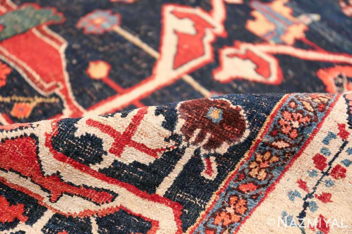 Large Blue Garous Design Antique Persian Bidjar Rug 48307 Navy Pile Nazmiyal