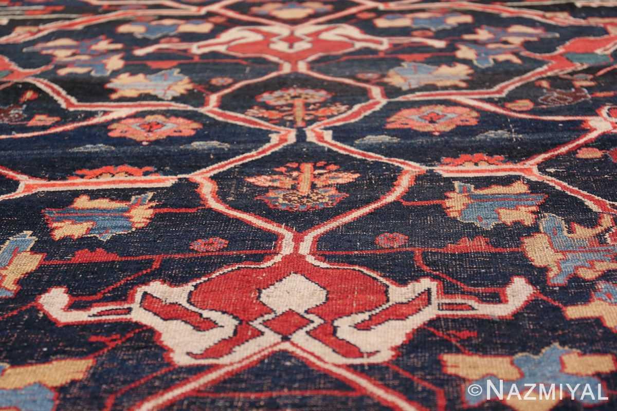 Large Blue Garous Design Antique Persian Bidjar Rug 48307 Red Design Nazmiyal
