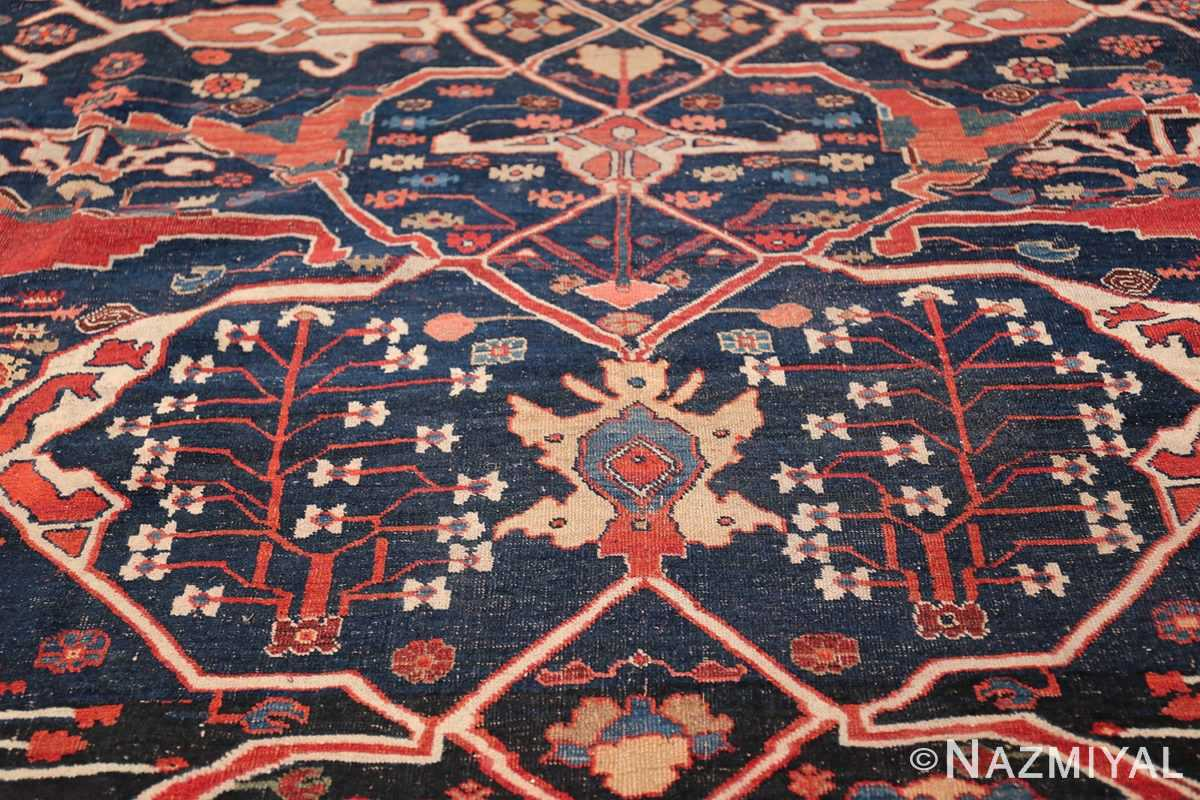 Large Blue Garous Design Antique Persian Bidjar Rug 48307 Three Vaults Nazmiyal