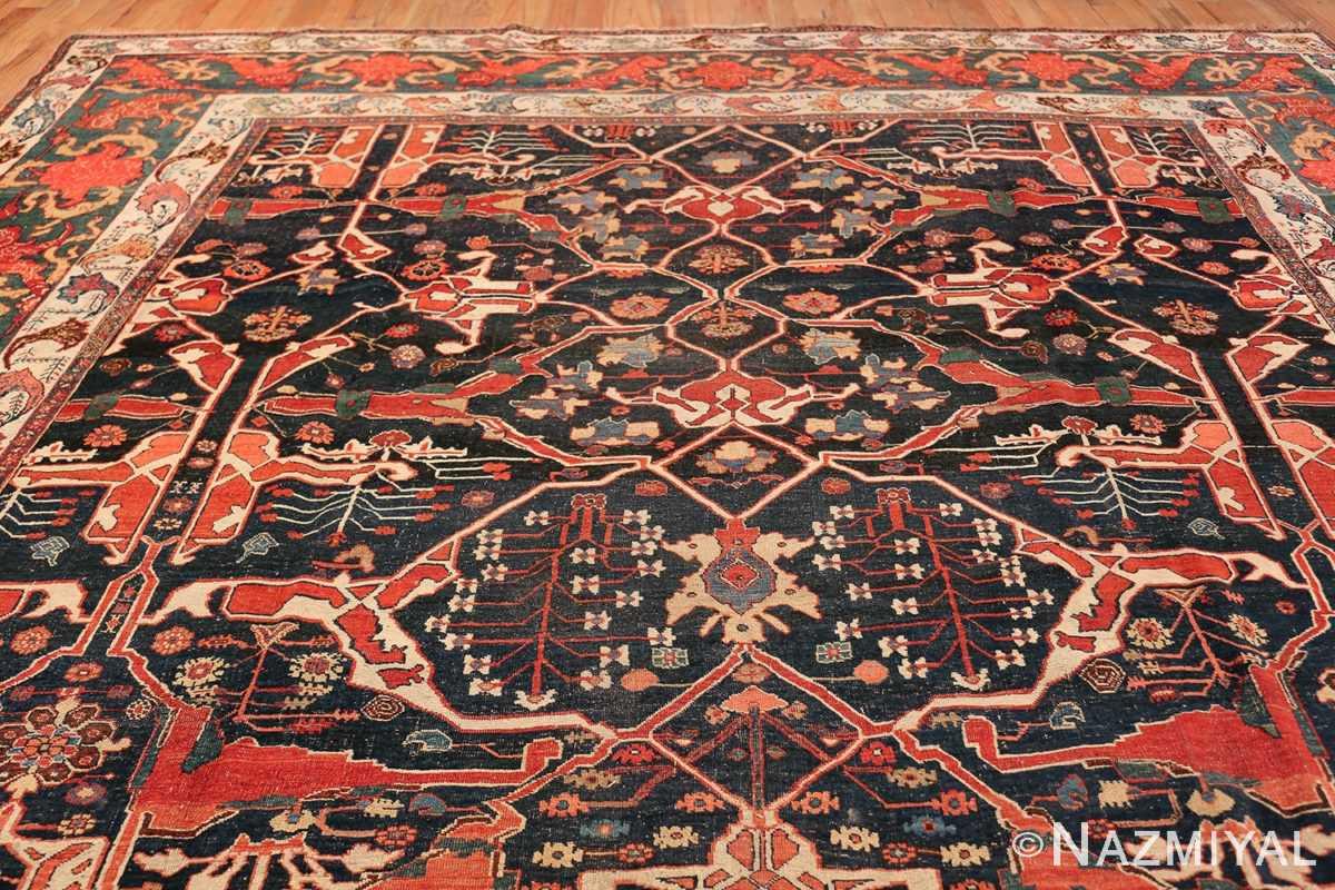 Large Blue Garous Design Antique Persian Bidjar Rug 48307 Top Design Nazmiyal