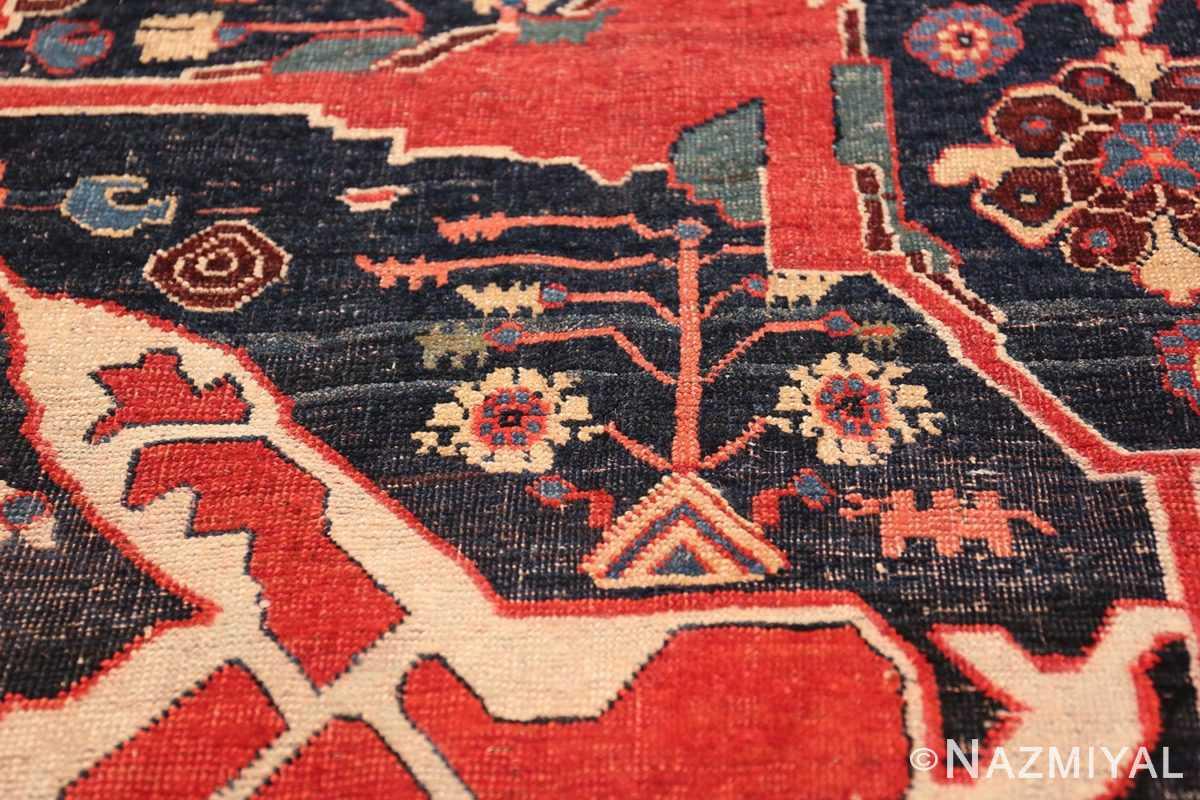 Large Blue Garous Design Antique Persian Bidjar Rug 48307 Tribal Animal Nazmiyal