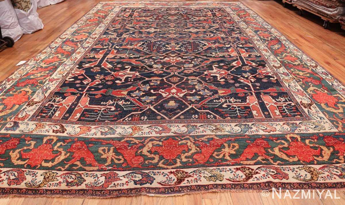 Large Blue Garous Design Antique Persian Bidjar Rug 48307 Whole Design Nazmiyal