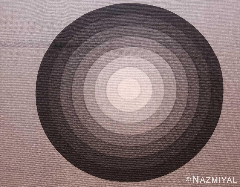 vintage Kreis verner panton textile 47809 black Nazmiyal