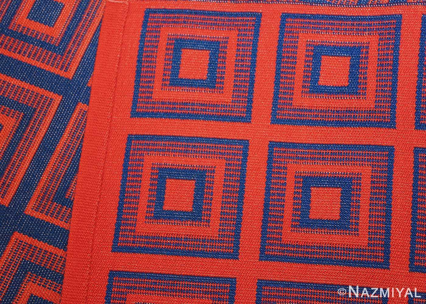vintage double sided swedish kilim 48428 red weave Nazmiyal