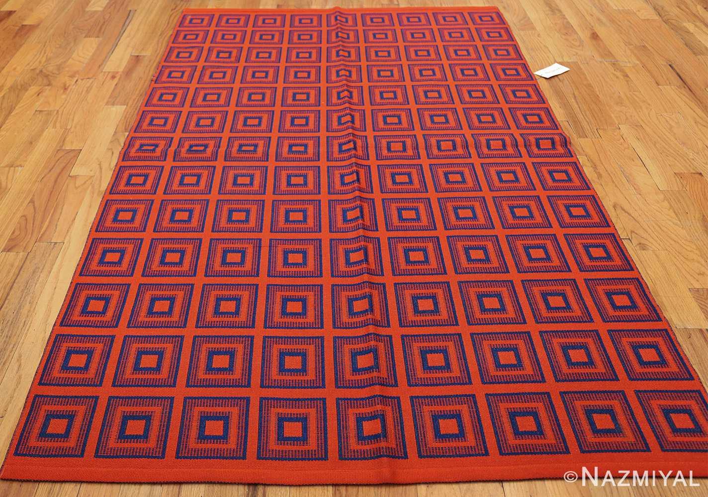 vintage double sided swedish kilim 48428 red whole Nazmiyal