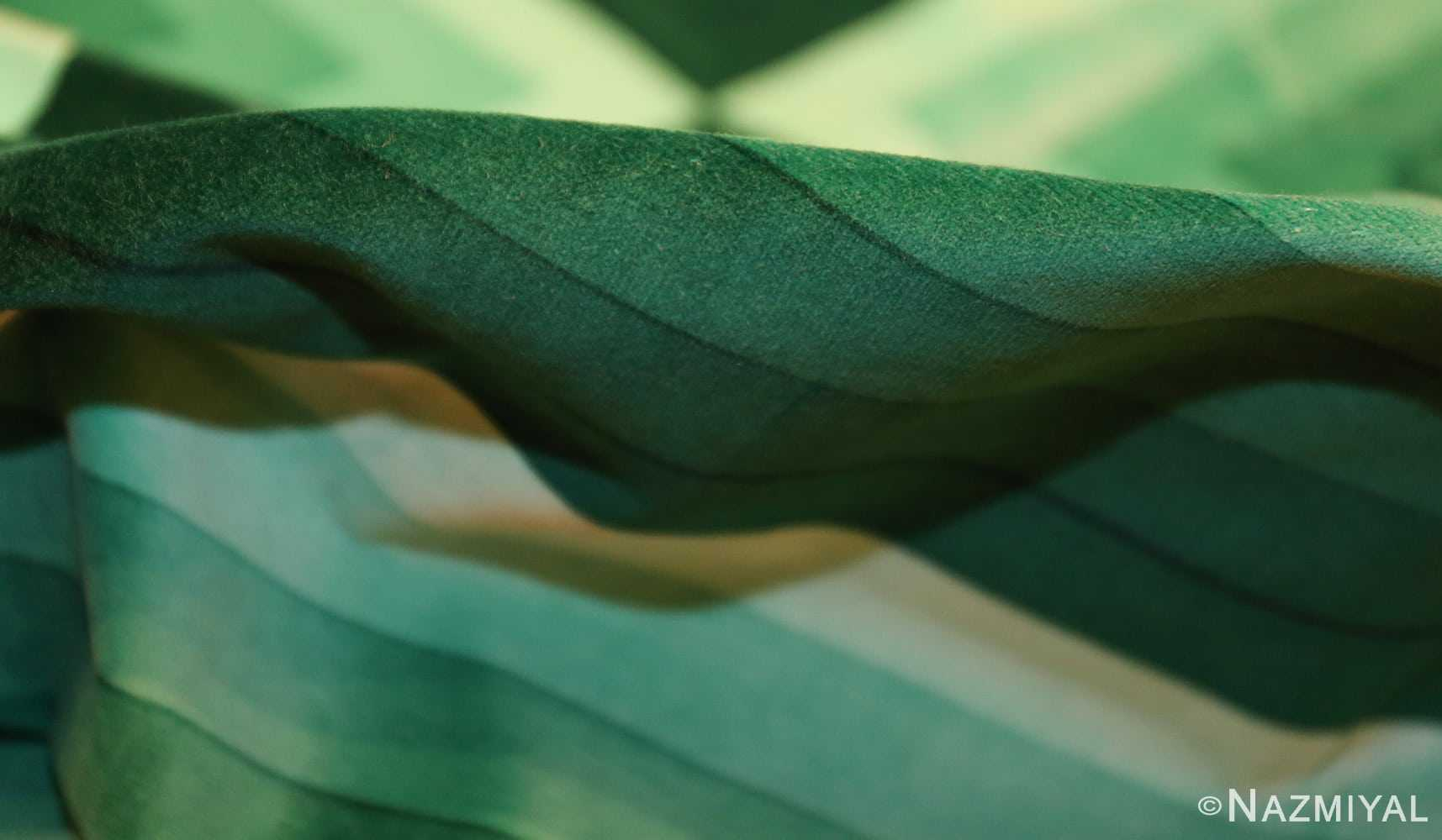 vintage green quadrat verner panton textile 47731 pile Nazmiyal