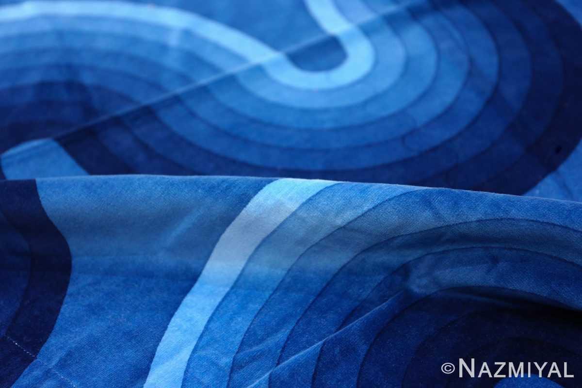 Vintage Kurve Verner Panton Textile in Blue 47720 Blue Pile Nazmiyal